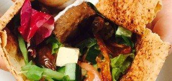 Griekse hamburger wraps