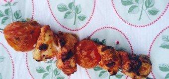 Kip tomaten spiesen BBQ recept