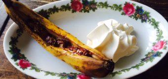 Bananasplit van de barbecue en kookboek review van BBQ