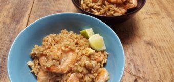 Thaise gebakken rijst met krab
