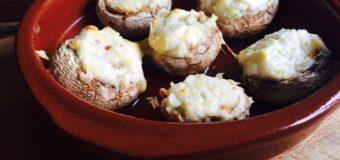 Gevulde champignons met kruidenroomkaas