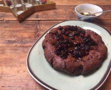 Appel cranberry brownie