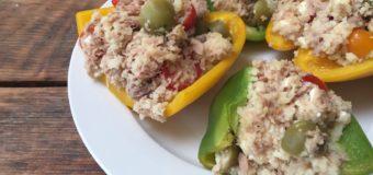 Gevulde paprika met couscous en tonijn