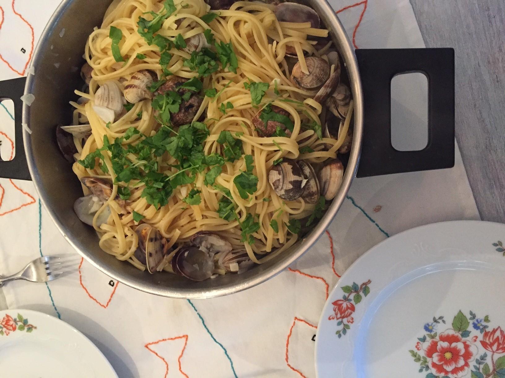 Kokkels met pasta recept