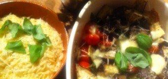 Italiaanse gehaktballetjes met gegrilde groente