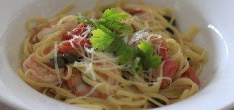 Linguini pasta met scampi