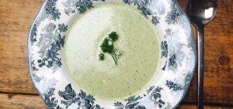 Snelle broccolisoep met een beetje mascarpone