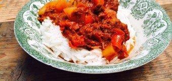 Mijn Goulash recept Stoofschotel met rundvlees en paprika