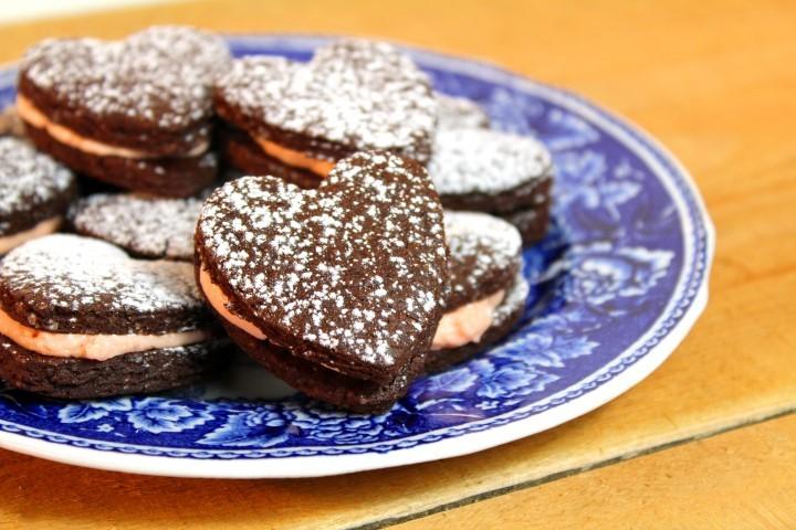 Valentijnsrecepten Brownieskoekjes met bloedsinaasappelcreme foodblog Foodinista