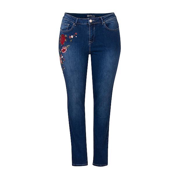 Jeans bloemen slim fit plus size shoptips blogger favorieten