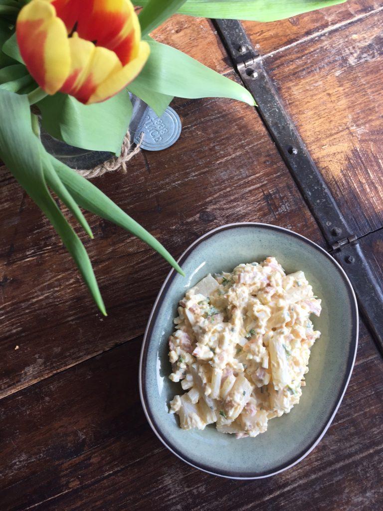Eiersalade met asperges en ham recept van foodblog Foodinista