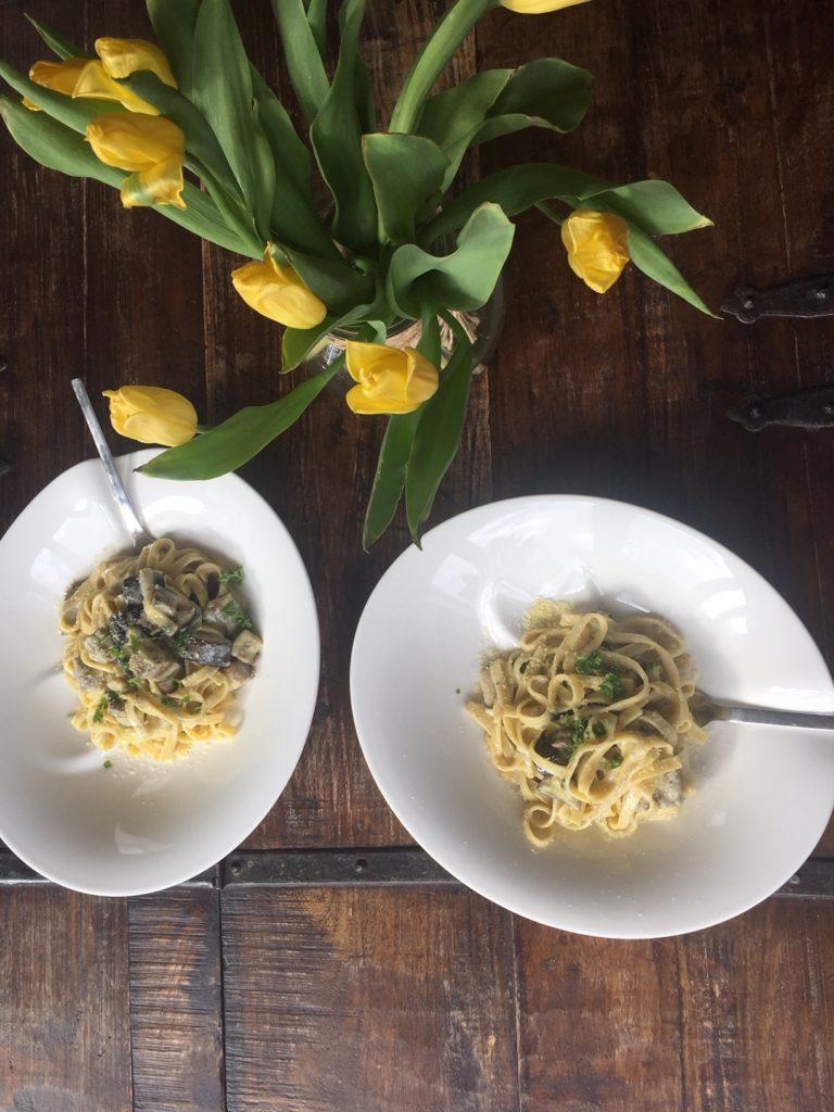pasta met aubergine en gorgonzolasaus recept van foodblog Foodinista