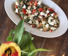 Couscous salade met spinazie en feta