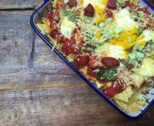Nachoschotel met chorizo en paprika