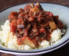 Zoete ratatouille met couscous