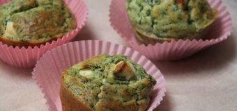 Hartige muffins met spinazie en feta